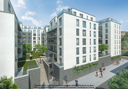 New building complex in Offenbach